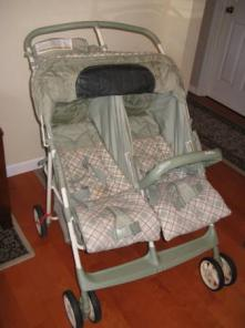 Graco DuoRider - used twin side by side stroller