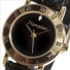 Hampden Ladies Black Leather Strap/Black Diamond Dial - $25